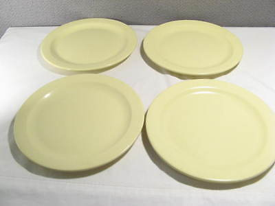 "set of 4 vintage BOONTON 10"" Cafeteria Yellow Plates - Boontonware -"