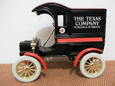 Ertl 1905 Ford First Delivery Car Model Coin Bank Texas Company Oil Advertising