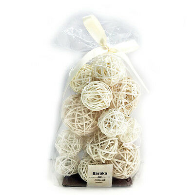 18 Counts Rattan Ball with Natural Scent Decro-Home Use White Color