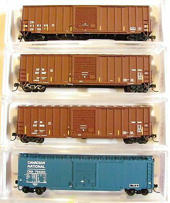 NIB N Scale Canadian National and Grand Trunk Western Freight Car Lot