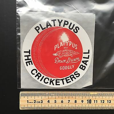 Rare Sticker Collection Sticker Number 22 Australian Platypus Cricket Ball