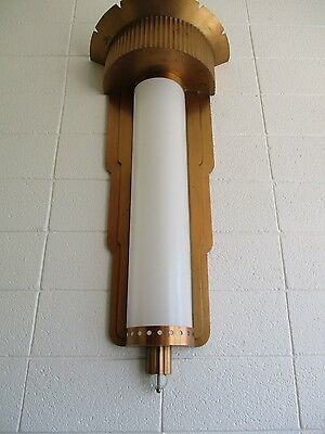 Art Deco 1930's Streamline Modern Theatre Hollywood Wall Lamp Light Fixture