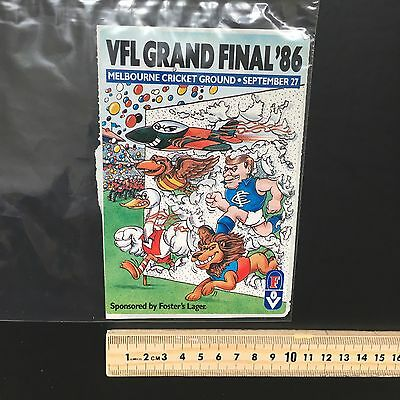 Rare Sticker Collection Sticker Number 30 VFL AFL Grand Final 1986
