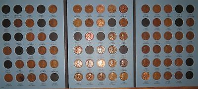 1909-1940 PDS Lincoln Wheat Cent Collection, 67 coins in Whitman inc. Semi-Keys