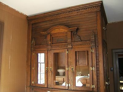 MCGRAY Antique Oak ICE BOX  Walk in Cooler Corner Store-  SOLID BRASS HARDWARE