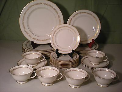 Franciscan Arcadia Gold 6 Five Piece  Settings Salad Dinner Bread Butter Cups