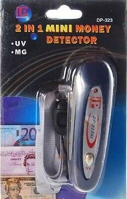 UV LED Light Counterfeit Currency Money Detector.