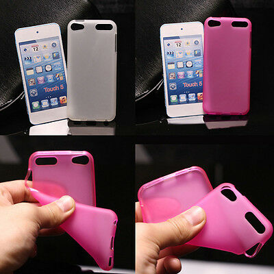 For iPod Touch 5th & 6th Gen matte Gel TPU Case Cover Skin & Soft Rubber case