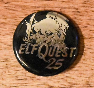 ELFQUEST 2003 25th Anniversary Rare Promo BUTTON Pin SDCC Wendy & Richard Pini