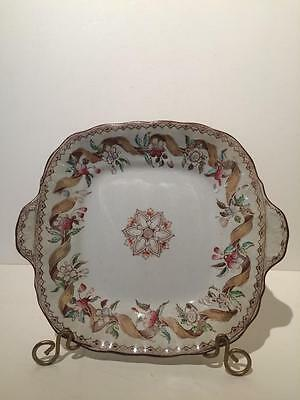 "Antique Cake Plate - Brownfield ""Bouquet"""