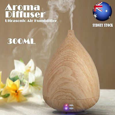 Aroma Diffuser LED Essential Oil Ultrasonic Air Humidifier Aromatherapy^Purifier