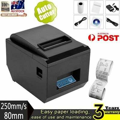 80mm USB POS Thermal Dot Receipt Bill Printer High Speed Auto Cutter 250mm/s AUS