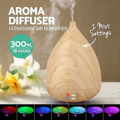 Aroma Aromatherapy Diffuser LED Essential Ultrasonic Air Humidifier Purifier BI