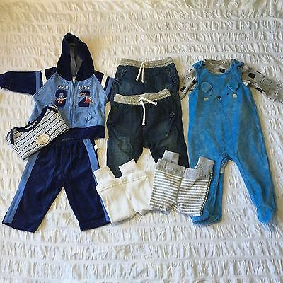 Baby Boys Jeans Tracksuit Overalls Mixed Lot 6-12months Size 0 Never Worn