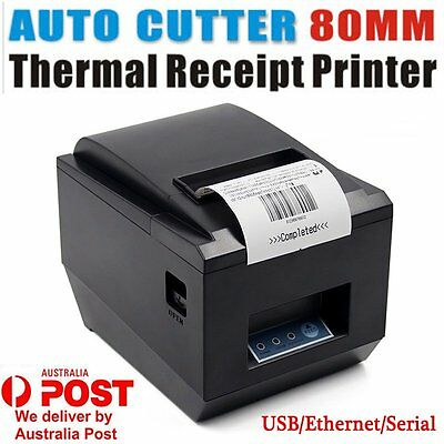 80mm USB POS Thermal Dot Receipt Bill Printer High Speed Auto Cutter 250mm/s OZ