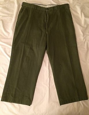 Pair of Vintage Official Boy Scouts of America Olive Green Uniform Pants Mens 40