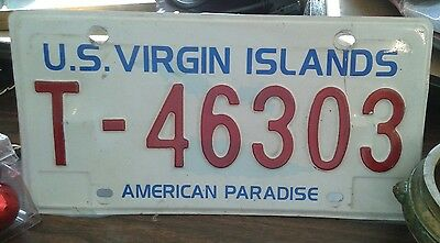 US Virgin Islands Vintage License Plate in good used condition.