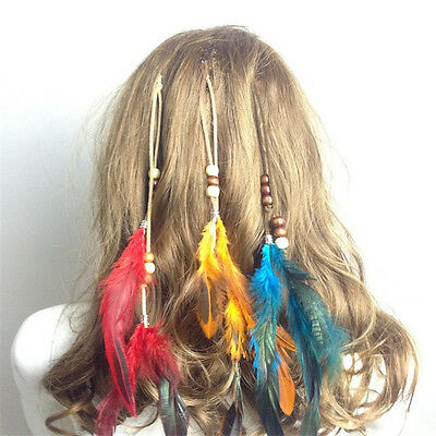 Native American Indian Feather Hair Clips Comb Extension New Boho Tribal Costume