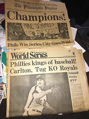 Philadelphia Inquirer Oct 22,1980 Philadelphia Phillies Champs Front/Sports page