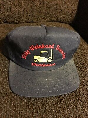 BLITZ-WEINHARD BREWING Warehouse HAT CAP Vintage BEER SNAPBACK BLUE Made In USA