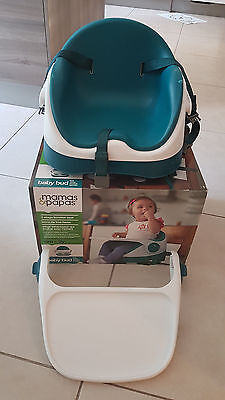 Mamas & and Papas Baby Bud Booster Seat 6-36 months - Teal (With original Box)