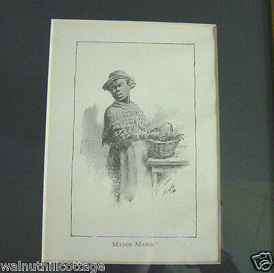 Vintage Framed Black and White Picture Mandy Mason by Edward W. Kemble Jimsella