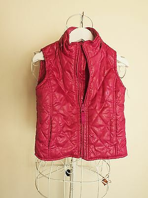 """Size 12 - 18M """"Pumpkin Patch"""" Funky Red Puffer Vest  - Great Condition!"""