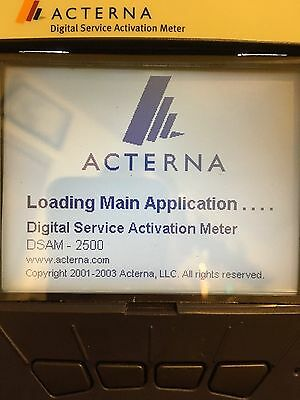 Acterna JDSU DSAM 2500B Cable Tester with Extended Life Battery