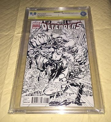 The Defenders #1 /1:200 Neal Adams Variant Rare Comic Signed