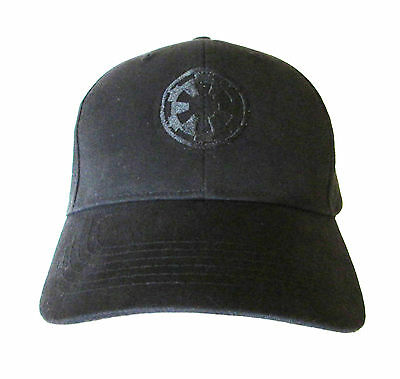 Star Wars Imperial Logo BLACK Adult Embroidered Baseball Hat Cap OSFA & FlexFit