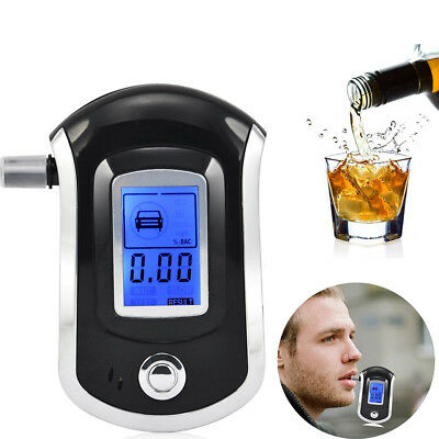 Portable Digital Alcohol Breathalyser Breath Tester Breathtester With Blue LCD