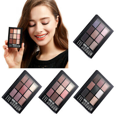 Natural 9 Colors Smoky Eyeshadow Palette Makeup Cosmetic Shimmer with Brush