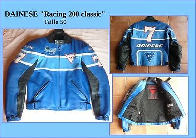 "Blouson Veste Cuir moto DAINESE ""Racing 200 classic"" taille 50 comme NEUF!"