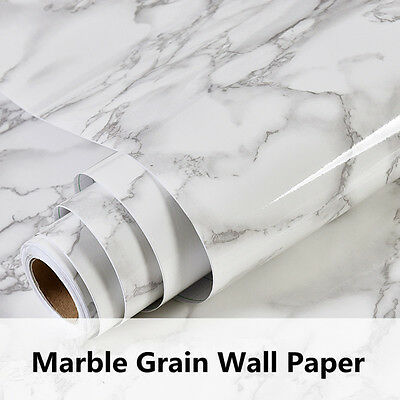 Gloss White Marble Grains Vinyl Wrap Sticker For Car Furniture Laptop Mobile Wal