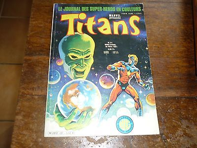 Comics Marvel  Titans N° 31 Collection Lug Style Strange Super Heros
