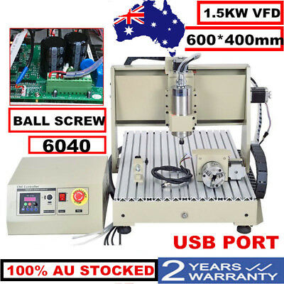 Usb!4Axis 6040T 1.5Kw Cnc Router Engraver Engraving Cutter 1500W Carving Machine
