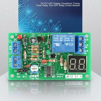 DC 12V LED Display Countdown Timing Timer Delay Turn OFF Relay Switch Module