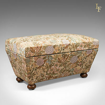 Antique Ottoman, Victorian Upholstered Chest, English, c.1870