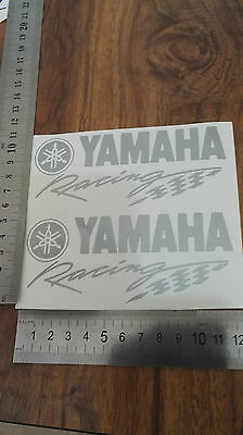 Yamaha Racing decals/stickers 2 ( a pair) in silver,    other colours available