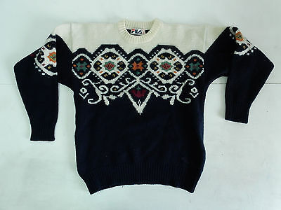 Fila Vintage Sweater Maglione Lana Whool