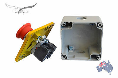 Metal Emergency Stop x5, switch electrical 12V 24V safety, telemechanique
