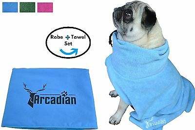Microfibre Dog Drying Robe and Towel Set by Arcadian