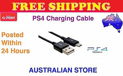 Sony PlayStation 4 USB Charge Cable PS4 Controller Charging Charger Power
