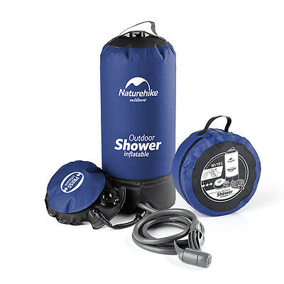 Outdoor Camping 11L Inflatable Pressure PVC Shower Water Bathing Bag NH17L101-D