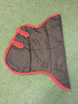NEW HORSEWARE AMIGO INSULATOR HOOD SIZE SMALL Brown/Red/Navy