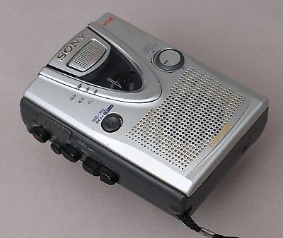 Sony Personal Cassette Tape Recorder Dictaphone TCM-400 TCM-400DV *WORKING*