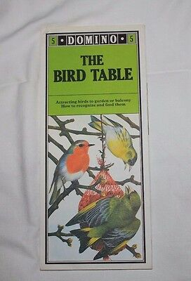 VINTAGE - Domino - The Bird Table 1979, Terence Lambert - Fold out sheet.
