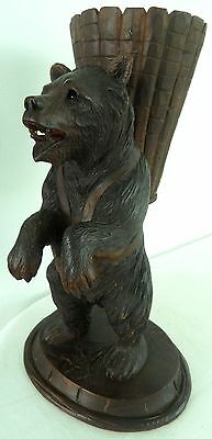 Antique Swiss Brienz Black Forest Hand Carved Bear hige 14 inch