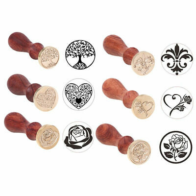 Sealing Wax Classic Invite Wax Seal Stamp Heart Lily Retro Wood Letter Decor