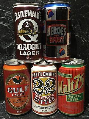Castlemaine. Assorted. 375ml. Collector Beer Cans x 5 Different